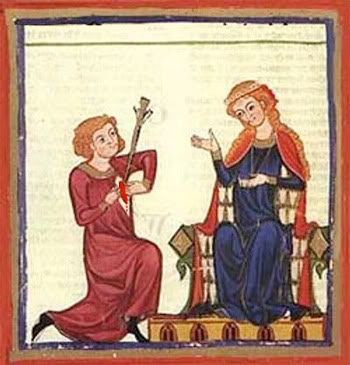 the idea of courtly love in poetry of troubadours